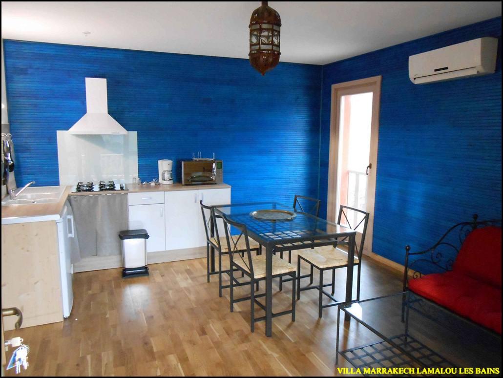 Lamalou les bains gite appartement belle vue et calme dans villa pour 5 personnes
